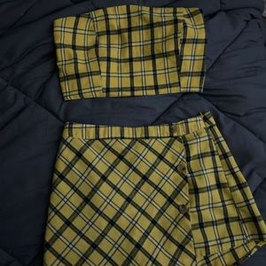 PacSun Kendall & Kylie Yellow Plaid Two-Piece